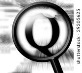 letter q with magnifier on a... | Shutterstock . vector #29205625