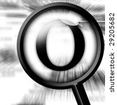 letter o with magnifier on a... | Shutterstock . vector #29205682