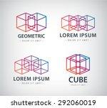 Vector Set Of Cube Constructio...