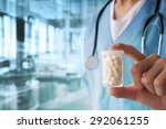 male doctor with medication | Shutterstock . vector #292061255
