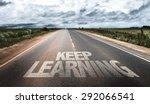 keep learning written on rural... | Shutterstock . vector #292066541