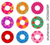 vector colorful swim ring icon... | Shutterstock .eps vector #292066589