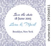 card or invitation with lace... | Shutterstock .eps vector #292066811