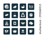 cooking icons universal set for ... | Shutterstock . vector #292068515