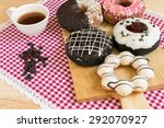 donut with coffee cup | Shutterstock . vector #292070927