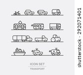 transport icons set. vehicle... | Shutterstock .eps vector #292071401