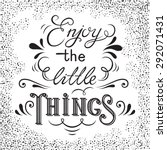 hand drawn lettering poster.... | Shutterstock .eps vector #292071431