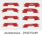 vector set of 6 ribbons | Shutterstock .eps vector #292073189