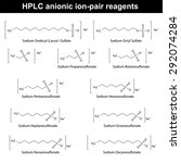 hplc anionic ion pair reagents  ... | Shutterstock .eps vector #292074284