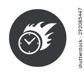 image of burning clock in black ...