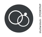 image of wedding rings in black ... | Shutterstock .eps vector #292085969