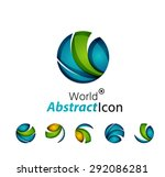 abstract geometric business... | Shutterstock . vector #292086281
