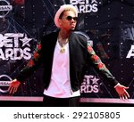 los angeles   jun 28   chris... | Shutterstock . vector #292105805