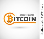 bitcoin accepted sticker icon...   Shutterstock .eps vector #292110575