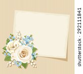 vector vintage card with white... | Shutterstock .eps vector #292111841
