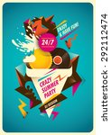 abstract poster design for... | Shutterstock .eps vector #292112474