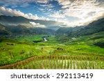 rice fields on terraced in... | Shutterstock . vector #292113419
