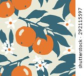 orange or grapefruit with... | Shutterstock .eps vector #292115597