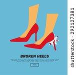 broken heels  vector...   Shutterstock .eps vector #292127381
