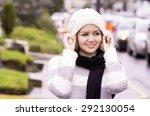 model in outdoors environment...   Shutterstock . vector #292130054