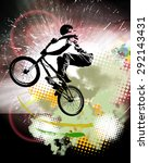 bmx rider. sport illustration | Shutterstock . vector #292143431