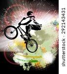 bmx rider. sport illustration | Shutterstock . vector #292143431