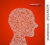 abstract human head. vector... | Shutterstock .eps vector #292145279