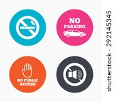 circle buttons. stop smoking... | Shutterstock .eps vector #292145345
