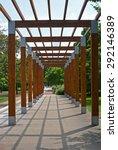 terrace in park  podebrady ... | Shutterstock . vector #292146389
