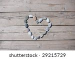A Heart Shaped Stone On A Old...