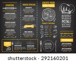 restaurant cafe menu  template... | Shutterstock .eps vector #292160201