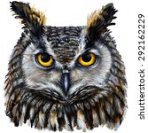 Eagle Owl  Digital Painting  ...