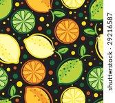 vector seamless pattern of lemon | Shutterstock .eps vector #29216587