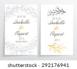 invitation card set. made with... | Shutterstock .eps vector #292176941