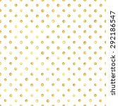 seamless pattern with gold... | Shutterstock . vector #292186547