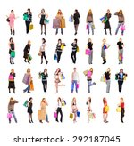 shopping spree isolated concept  | Shutterstock . vector #292187045