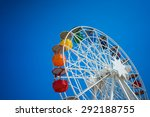 a ferris wheel on top of a hill ... | Shutterstock . vector #292188755