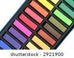 colorful pastels arranged in a... | Shutterstock . vector #2921900