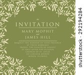 invitation with pattern olive... | Shutterstock .eps vector #292194284