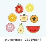 fruit icon set | Shutterstock .eps vector #292198847