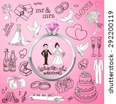 hand drawn collection of... | Shutterstock .eps vector #292200119