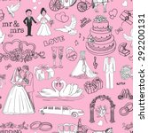 seamless pattern with wedding... | Shutterstock .eps vector #292200131