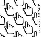 cursor hands seamless pattern... | Shutterstock .eps vector #292204655
