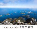 mountain view   lofoten islands ... | Shutterstock . vector #292205729