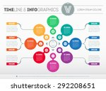web template for circle diagram ... | Shutterstock .eps vector #292208651