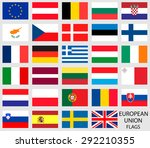 european union country flags | Shutterstock .eps vector #292210355