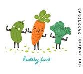 cute vegetable characters... | Shutterstock .eps vector #292210565