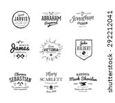 vector vintage labels.... | Shutterstock .eps vector #292212041