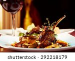 luxury dinner served on  the... | Shutterstock . vector #292218179