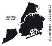 new york city map vector | Shutterstock .eps vector #292218329